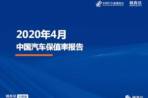 2020年4月中国汽车保值率:自主品牌保值率显著上...